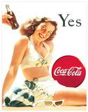 cartel de chapa coca cola retro american - foto