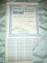 Ferrocarril la robla lote ACCIONES 1928 - foto