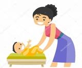 cuido niños y personas mayores - foto