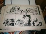 Laminas originales pruebas comics aÑos60 - foto