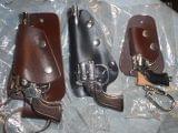 6 revolveres juguete clasico metal 1970 - foto
