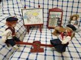 3 muñecas para casa de muñecas - foto
