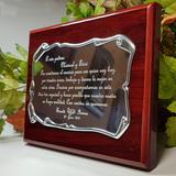 Placa de homenaje grabada conmemorativa - foto