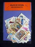 Lote 100 sellos diferentes de PESETAS - foto