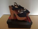 Vendo zapatos tacón corcho azul marino - foto