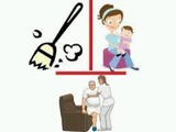niñera y tareas del hogar - foto