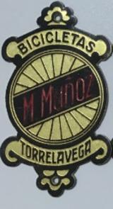 chapa placa insignia escudo bicicleta - foto