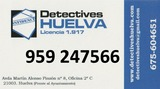 Detective en Huelva. 959247566 - foto