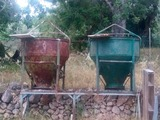 Cubilotes de hormigon - foto