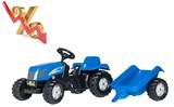 Tractor pedales NEW HOLLAND con remolque - foto
