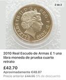 moneda Real escudo de armas - foto