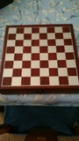 set de vino con ajedrez - foto