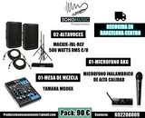Alquiler 2 altavoces sonido amplificado - foto