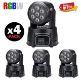 4 mini cabezas rgbw 7x10w led nuevas. - foto
