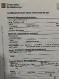 certificado de gas - foto