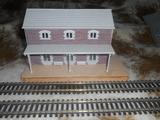 Estacion de tren ho de madera y arena - foto