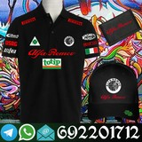 Alfa Romeo Polo negro + gorra + billtera - foto