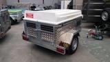 Remolque aluminio perros 4 puertas - foto