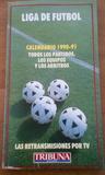 calendario de futbol 1990-91 - foto