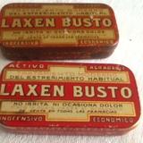2 cajas de hojalata: Laxen Busto. Antigu - foto