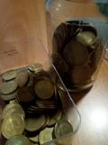 100 monedas de 2,50 pesetas 1953 - foto