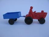 Antiguo tractor plastico- aÑos 70 - foto