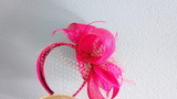 Tocado boda o fiesta rosa fucsia - foto