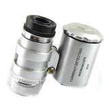 microscopio bolsillo led de 60 aumentos - foto