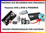 Vhs, VHS-C, MiniDV, 8mm a DVD y Pendrive - foto