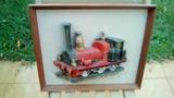 Cuadro relieve tren - foto