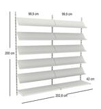 Revistero de pared 2,03 m, 10 estantes r - foto