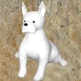 Maniqui perro dogo sentado - foto
