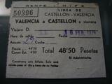 Antiguo billete de tren renfe hife 1974 - foto