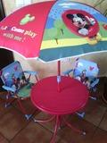 Conjunto jardin* mesa*sillas*parasol - foto