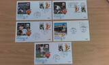 5 sobres con sellos espaÑa 82 - foto