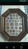 Cuadro colección de pesetas. - foto