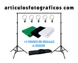 Kit Soporte de Fondos  + 1 Fondo Regalo - foto