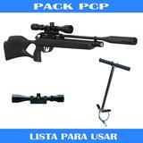 Escopeta pcp + bomba pcp+ visor - foto