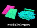 Bolsa de confeti fluorescente - foto
