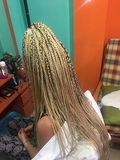 trenzas , pelo natural y lace frontal - foto