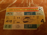 Entrada copa mundial -fifa- espaÑa 82 - foto