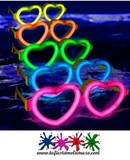 Gafas luminosas corazón - foto