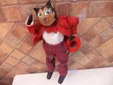 marioneta de madera antigua gato mide 44 - foto