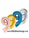 Globo Foil Número de 86cm de Colores - foto