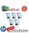 Lote 5 monitores dell tft 17 pulgadas hp - foto