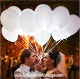 Pack helio con 30 globos LED Blancos - foto