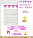 Photocall y cartel comunión Niña - foto