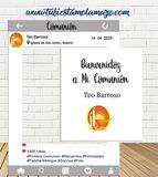 Photocall Instagram y Cartel Comunión - foto