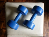 Pesas de 3 kg. color azul - foto