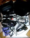camera digital video sony + tripode - foto